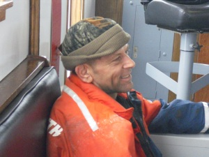 Rick Woodbury,  a volunteer to do MOB drills