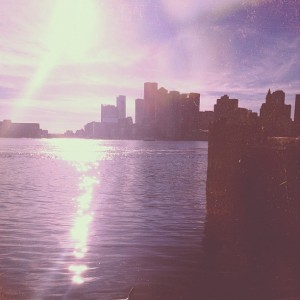 View from the Sea Hunter: Boston skyline