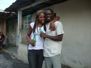 Felix Vital and his girlfriend