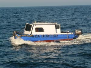 The refurbished Mini Me out to sea