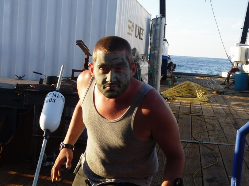 Clowning around with a mud mask from the bottom of the ocean